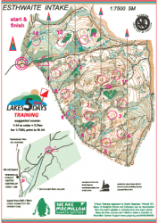 Esthwaite training map